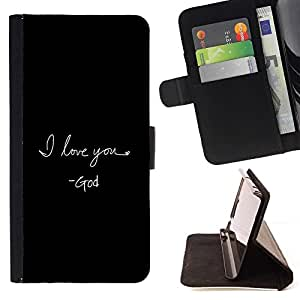 Momo Phone Case / Flip Funda de Cuero Case Cover - BIBLIA te amo Dios; - LG G4 Stylus H540