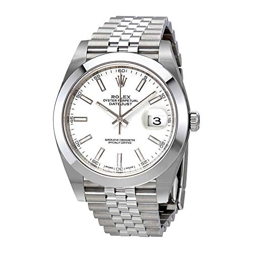 Rolex Datejust 41 White Dial Stainless Steel Jubilee Mens Watch 126300WSJ