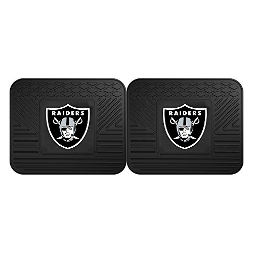 Door Mat Oakland Raiders (Fanmats 12318 NFL - Oakland Raiders Utility Mat - 2 Piece)