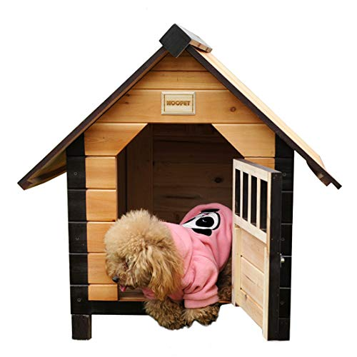 (Zhyaj Outdoor Dog Kennel Outdoor Dog House for Large Dogs Pet Chalet Villa Windproof Rainproof Breathable Stable Detachable Natural Aroma of The Chinese Fir Forest Large Dog Kennel,A )