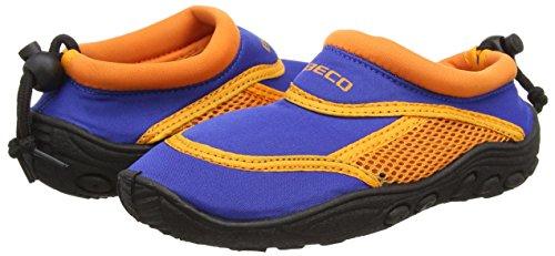 Beco Zapatillas acuáticas de surf para niños azul/naranja