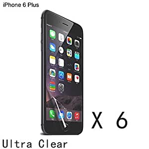 High Quality Clear Screen Protector for iPhone 6 Plus (6 pcs)