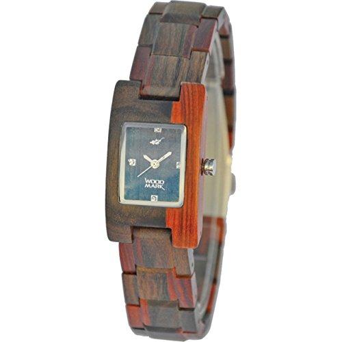 Wood Mark Watches 腕時計 グレーシャー 7101 ブラック & レッド サンダルウッド B00UTXU2G0