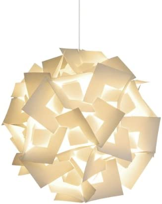 Akari Lanterns Medium Squares 18 Wide, Warm White Glow, Modern Unique Ceiling Hanging Light Fixtures Swag Plug in or Hardwire as Pendant Lamp Shade – Spiral Bulb Included, Easy to Install