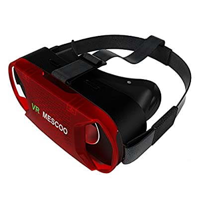 3D VR Virtual Reality Glasses Box for iPhone 6s Plus / Galaxy S7 - Black / Red