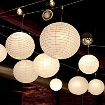 Phenomenal Collection Paper Lamp Lantern White 12 Inch  5