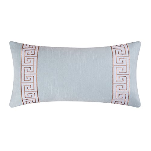 Key Pillow Embroidered Greek - C&F Home Greek Key Embroidered Pillow 12 x 24 Blue
