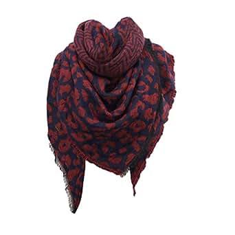 Women Winter Warm Leopard print Long Wrap Shawl Scarf