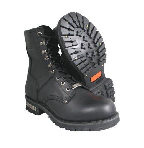 Xelement 1446 Vigilant Mens Black Logger Boots with Inside Zipper - 10 1/2 Xelement Footwear