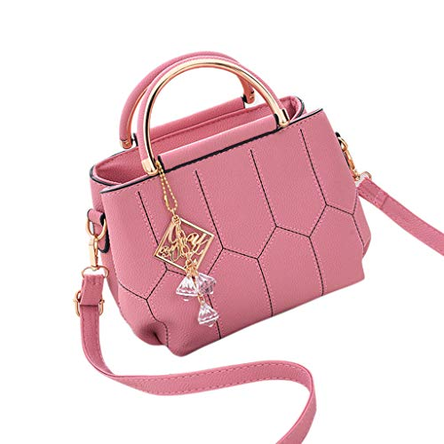 tracolla tracolla Borsa Top mano Lady a Landum a a mano Borse Messenger Pink Borsa Handle Leather Donna Borsa a CBdoExQreW