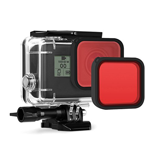 [2pcs] Deyard Red Lens Filter for Deyard GoPro Hero(2018)/Hero 5/Hero 6 Waterproof Case
