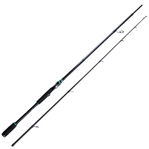 Berrypro 2-Piece Saltwater Spinning Rod Heavy Spin Rod Inshore Graphite Portable Fishing Rod (7-Feet) (7)