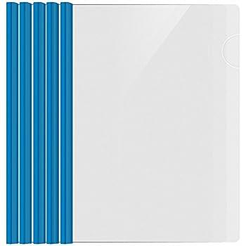 shxstore resume portfolio folder clear presentation folders with blue report covers sliding bar for a4