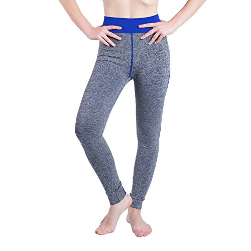 iLUGU Women Gym Yoga Patchwork Sports Running Fitness Leggings Pants Athletic Trouser(S,Blue-18) by iLUGU (Image #7)