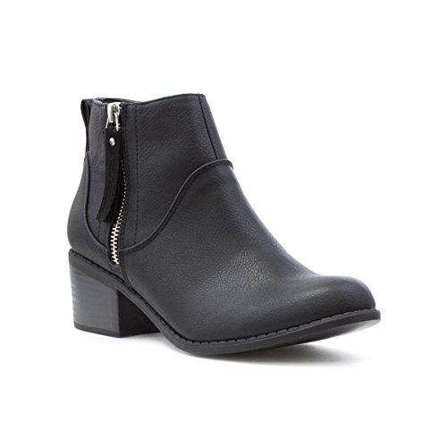 Lilley Womens Block Heeled Ankle Boot in Black Black