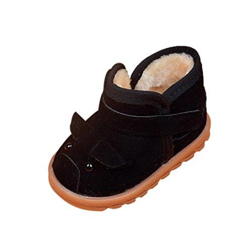 Clode® Kleinkind Baby Mädchen Aufladungen Jungen Kind Winter starke Schnee Aufladungen Pelz Schuhe Schwarz