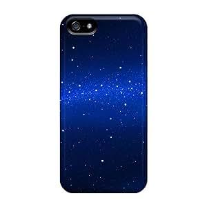linJUN FENGHigh Grade Mialisabblake Flexible Tpu Case For Iphone 5/5s - Blue Abstract