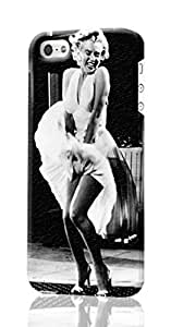 Marilyn Monroe Skirt Up iphone 5/5s iphone 5/5s 3D Case , Designer Personalized Custom Plastic Hard CASE for iphone 5/5s iphone 5/5s Durable New Style ROUGH Skin 3D Case Cover