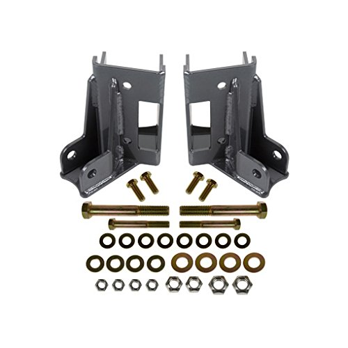 Lower Suspension Mount (Synergy Manufacturing 8078 Suspension Control Arm Bracket Jeep JK Rear Lower Control Arm Skids w/ Integrated Shock Mounts)