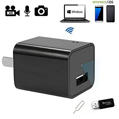 Saveguard Cam WIFI Full HD 1080P Hidden Spy Camera Real USB Wall Charger Adapter Secret Nanny Camera For Home Security Support Up To 32GB Memory Card