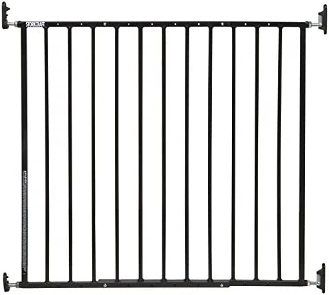 Storkcraft Easy Walk-Thru Metal Safety Gate (Black) – 27 Inches Tall, Easy to Install, Pet-Friendly, Durable Metal Hardware, Ideal for Children and Larger Pets