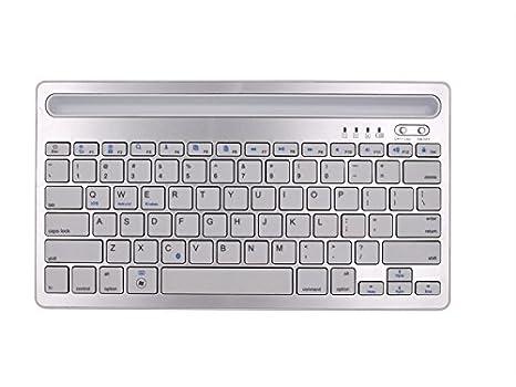 SUPRERHOUNG Computadora Teclado Teclado inalámbrico Universal Bluetooth con batería Recargable Compatibilidad Universal con iPad y computadora