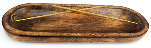 [INCENSEBURNER] Incense Burner Stick Holder Ash Catcher Wooden Handmade Modern Gift Wood Home Decor Size 11 X 4 X 1.2 Inches