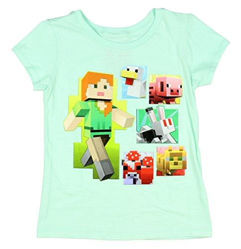 Minecraft Alex & Friends Girls Shirt 4-16 (M 7/8)
