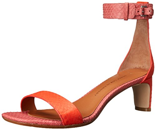 10 Crosby Womens Tehama Dress Sandal Poppy Watersnake/Coral Watersnake