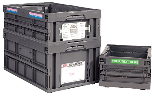SSI SCHAEFER CF242211.FSGY3 Collapsible Container, Polypropylene, Charcoal,  Capacity 33 Lb,