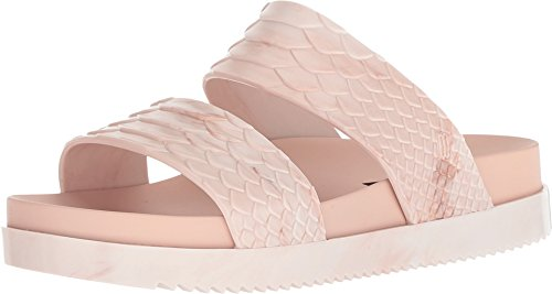 (Melissa Women's x Baja East Cosmic Slides, Light Pink, 5 M US)