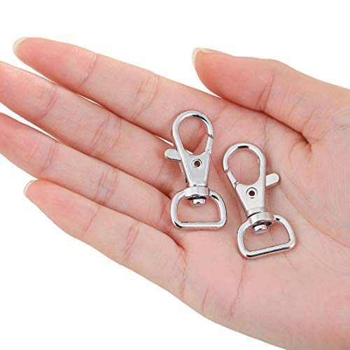 - JSSHI Pack of 40 Swivel Snap Hooks Lobster Claw Clasp Jewelry Findings for Lanyard and Sewing Projects, Wide 1/2 Inch D Ring (1/2
