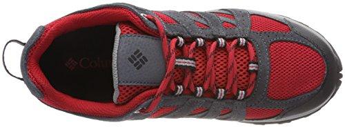 Columbia Unisex-Kinder Youth Redmond Waterproof Trekking-& Wanderhalbschuhe Rot (Mountain Red, Black)