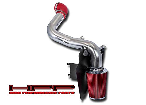 High Performance Parts Heat Shield Cold Air Intake Kit & Red Filter Combo Compatible for Chevy 1998-2003 S-10 / GMC Sonoma L4 2.2L