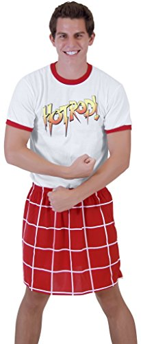 [Rowdy Piper T-shirt and Kilt Costume Set (Adult Large)] (Roddy Piper Costume)