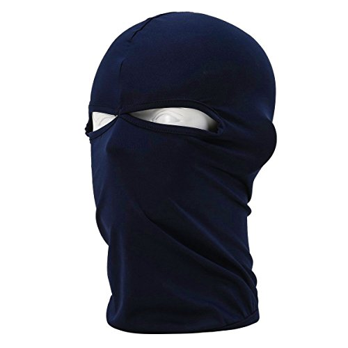 Blue Ski Mask Winter Warm Snowboard Face Mask Bandana Neck Cover 2 Holes