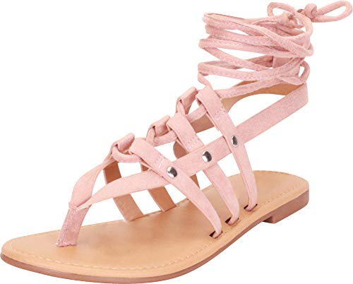 Cambridge Select Women's Thong Toe Strappy Crisscross