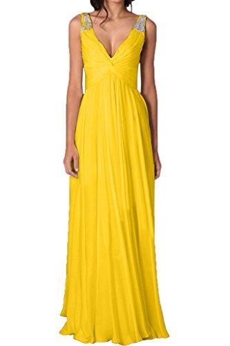 Mit Modern Promkleid Traeger A Abendkleid Linie V Damen Steine Ivydressing Ausschnitt Golden Festkleid Partykleid TW0qn5