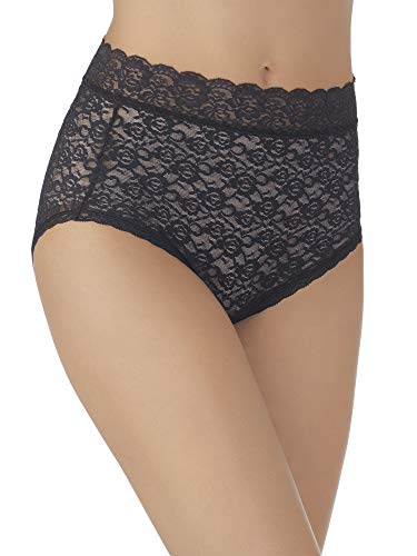 Vanity Fair Women's Flattering Lace Brief Panty 13281, All Over Lace Black, Large/7
