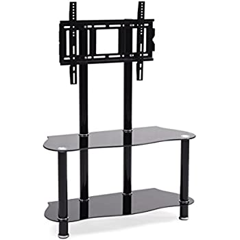Amazon Com Hodedah Glass Tv Stand With Mount Kitchen Dining