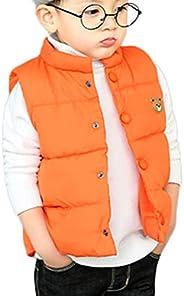 Junyue Baby Boys Girls Cute Bear Lightweight Puffer Vest, 18Month to 7T