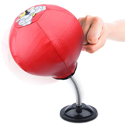 Desktop Punching Bag - Stress Buster Ball Strong Suction Cup Stress Relief, Boxing Work Outs