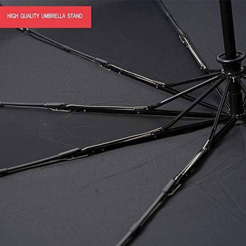 KYX-GAOMOUREN Simple Ten Bones Strong Windproof Umbrella Folding Automatic Umbrella Sunscreen Windproof Super Double,B