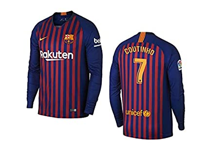 new arrival 8947c 7754d Amazon.com : ProApparels Coutinho Jersey Barcelona Long ...