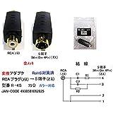 RCAプラグ→S端子(Mini Din 4pin)変換アダプタ