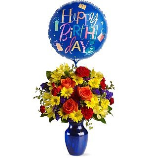 Fly Away Birthday Bouquet (Gifttree Balloon)