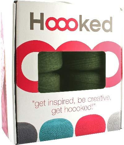 Hoooked Knit & Crochet Pouf Kit W/zpagetti Yarn-vineyard Green