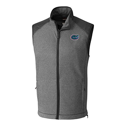 - Cutter & Buck NCAA Florida Gators Adult Men Cedar Park Full Zip Vest, X-Large, Charcoal Heather