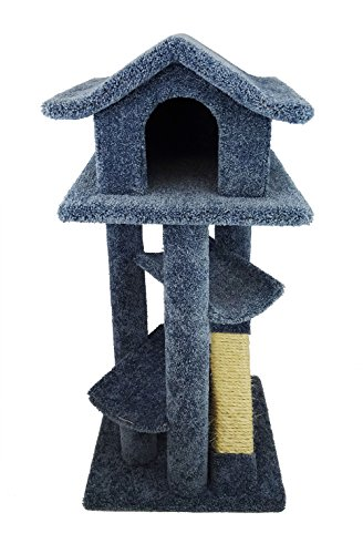New Cat Condos Premier Large Cat Pagodas Tree, Blue