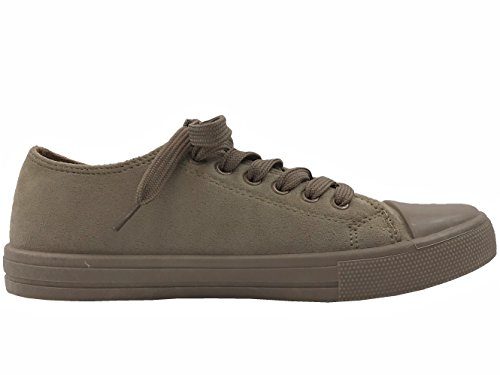 De Collectie Taylor Lo-top Sneakers Dames Canvas Sportschoenen Taupe